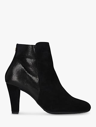 Carvela Comfort Rosie Leather Block Heel Ankle Boots, Black