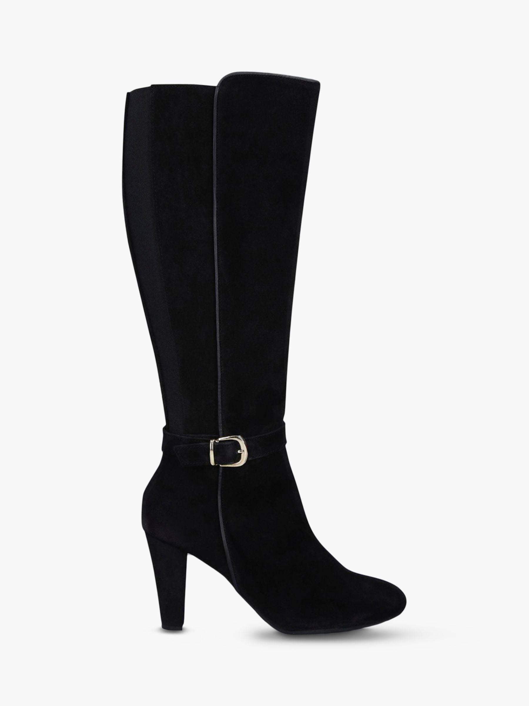 Carvela Comfort Carvela Comfort Villa Suede Block Heel Knee High Boots, Black