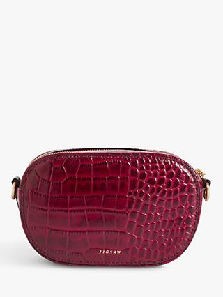 Jigsaw Otto Leather Croc Embossed Micro Cross Body Bag