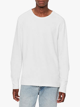 Buy AllSaints Gavin Long Sleeve Top, Chalk White, L Online at johnlewis.com