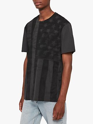 AllSaints Banner T-Shirt, Washed Black