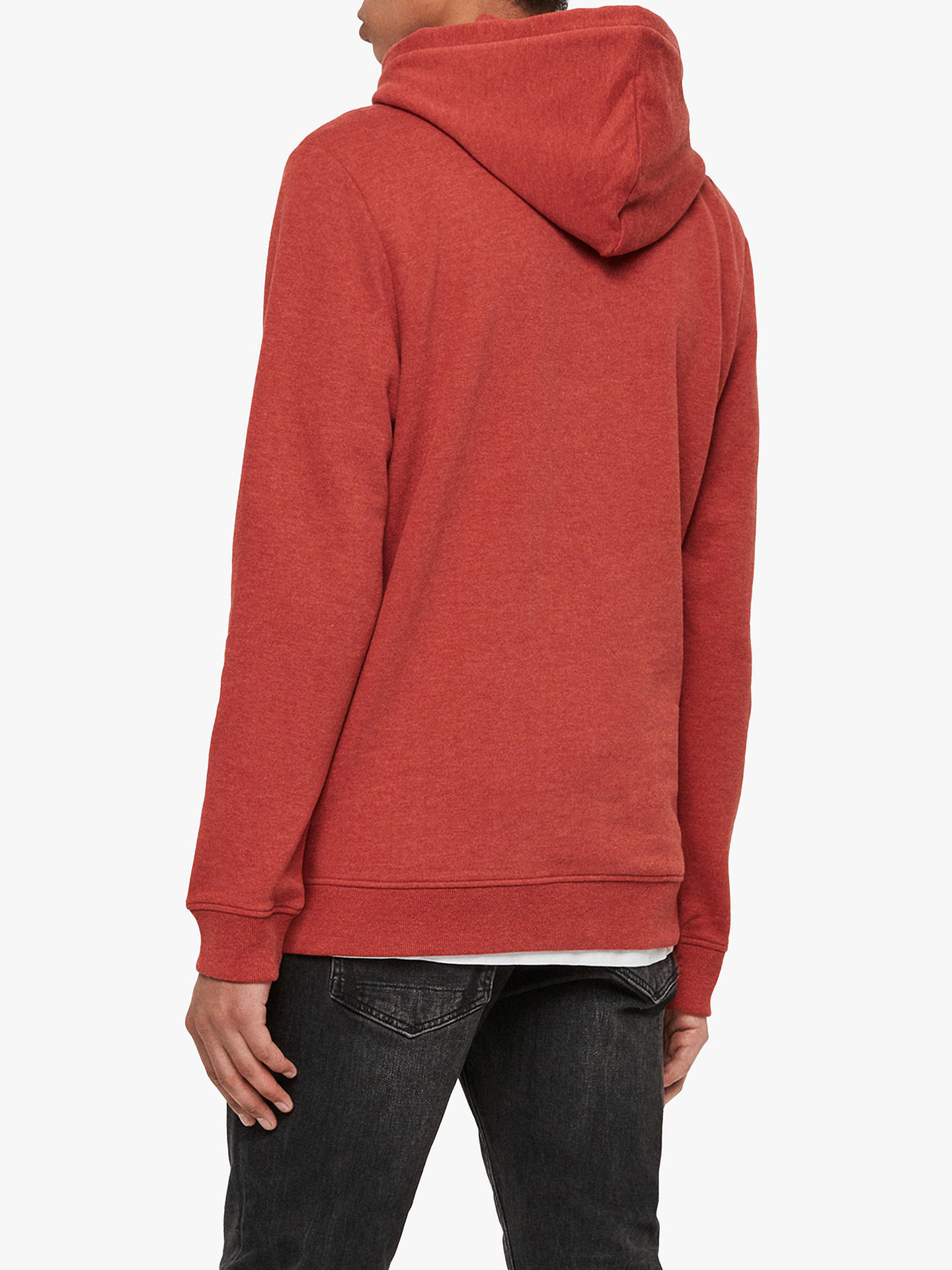 Buy AllSaints Raven Hoodie, Brick Red Marl, M Online at johnlewis.com