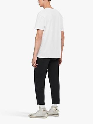 AllSaints State Logo Crew Neck T-Shirt, Optic White