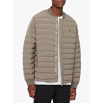 Image of AllSaints Albion Quilted Bomber, Sutro Grey