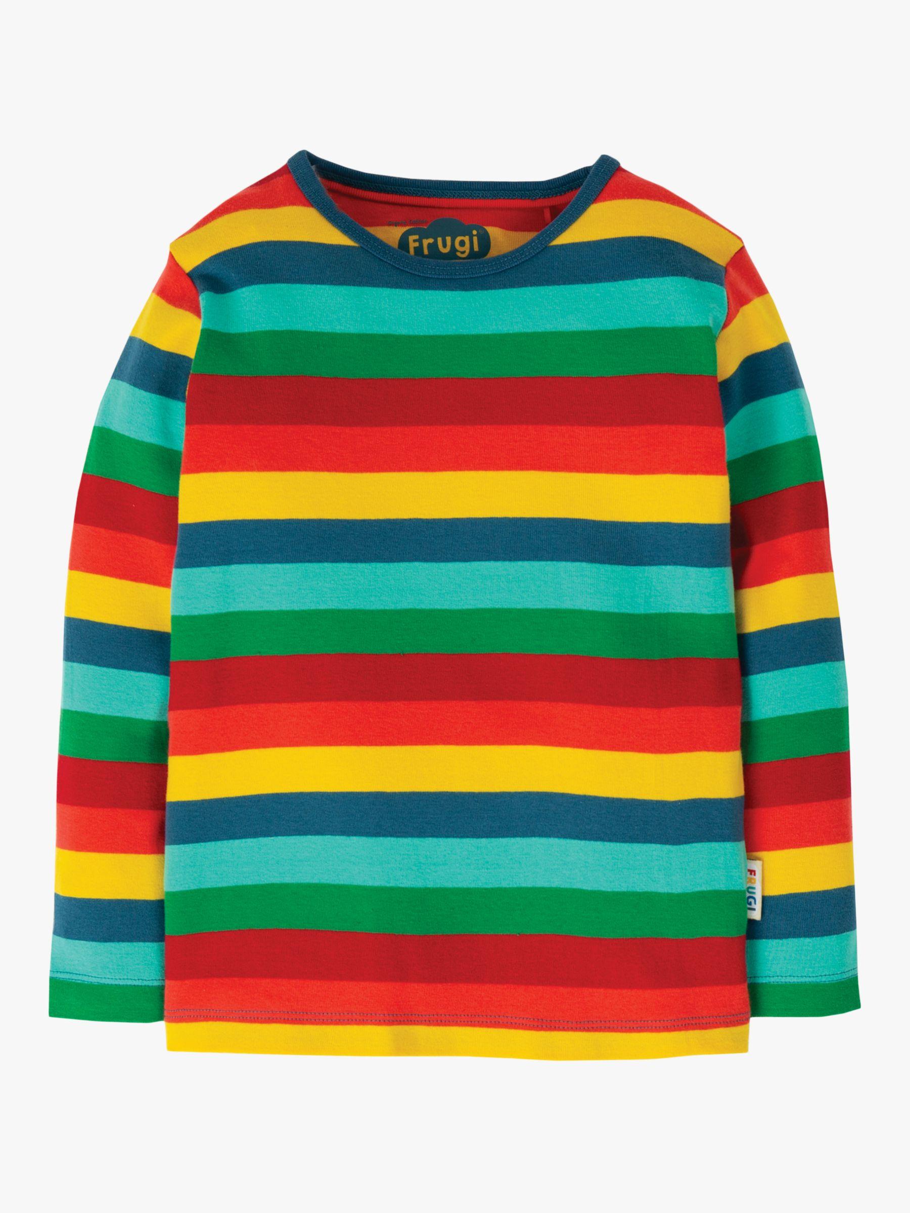 Frugi Frugi Children's GOTS Organic Cotton Stripe Top, Multi