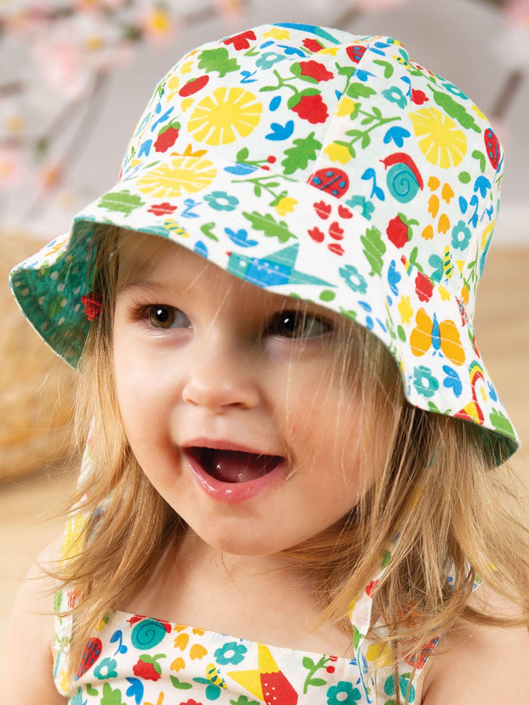 Frugi Frugi Baby GOTS Organic Cotton Reversible Floral Hat, Multi
