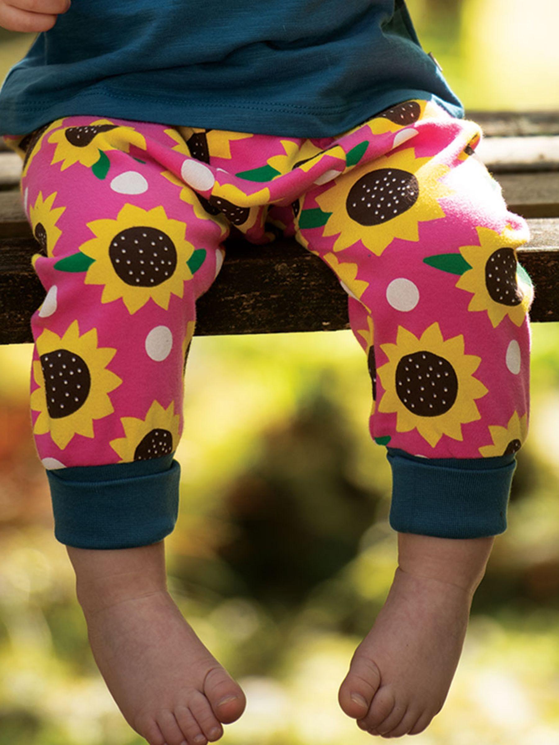 Frugi Frugi Baby GOTS Organic Cotton Sunflower Parsnip Trousers, Pink