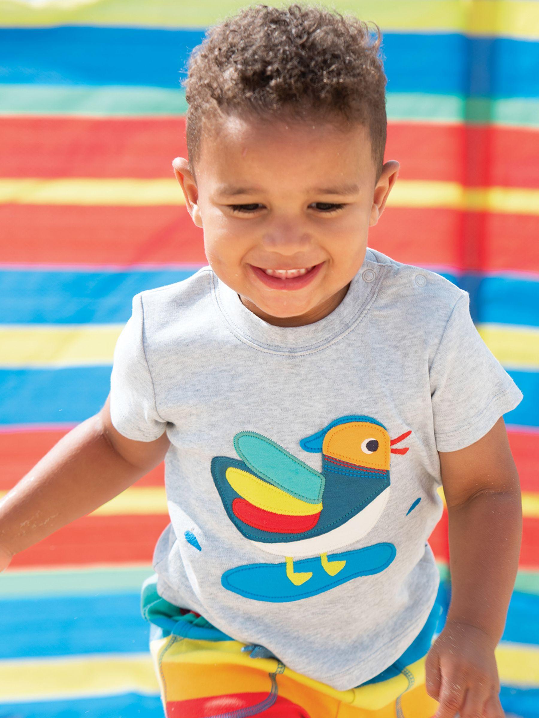 Frugi Frugi Baby GOTS Organic Cotton Duck T-Shirt, Grey