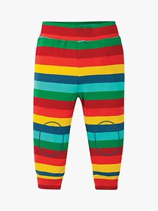 Frugi Baby GOTS Organic Cotton Rainbow Knee Patch Leggings, Multi