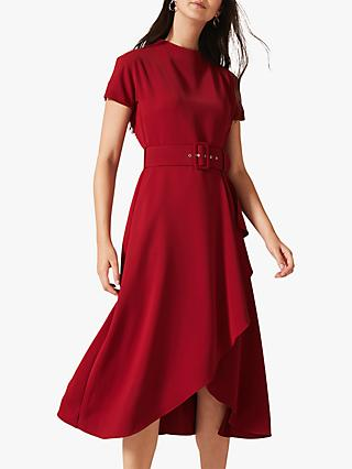 Phase Eight Mylee Belted Dress, Sangria