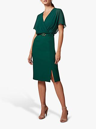 Phase Eight Alba Belted Dress, Cactus Green