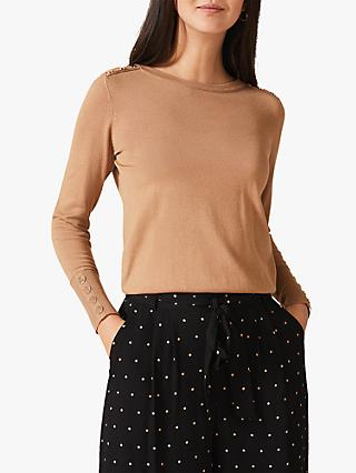 Phase Eight Scarlett Fitted Top, Camel