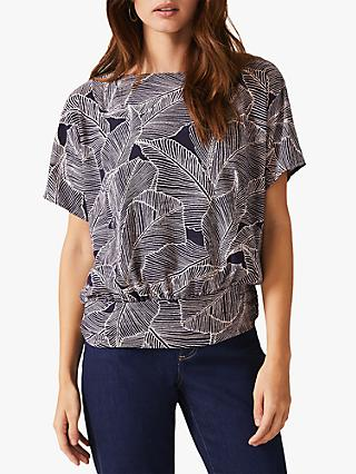 Phase Eight Eileen Palm Top, Navy