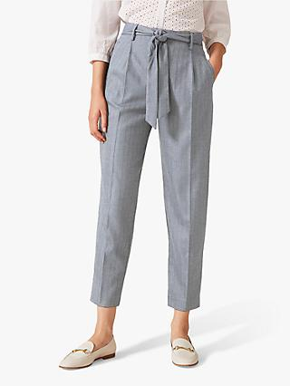 Phase Eight Herringbone Trousers, Grey