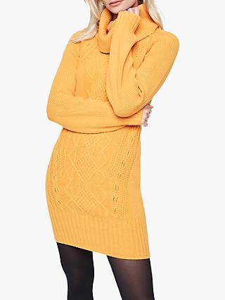 Damsel in a Dress Mathias Cable Knit Dress, Marigold
