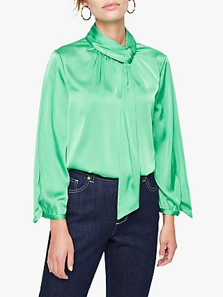 Damsel in a Dress Jenkin Tie Neck Blouse, Green