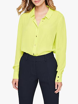 Damsel in a Dress Annah Metallic Button Blouse, Lime