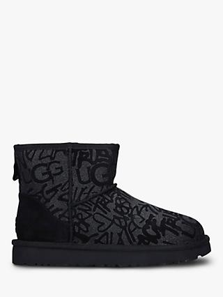 UGG Classic Femme Sparkle Mini Sheepskin Ankle Boots