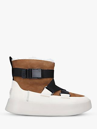 UGG Classic Boom Buckle Strap Leather Boots