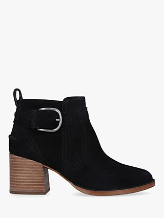 UGG Leahy Block Heel Suede Ankle Boots