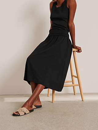 John Lewis & Partners Jersey Midi Skirt