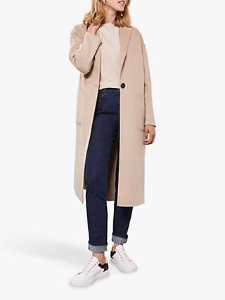 Mint Velvet Split Seam Coat, Camel