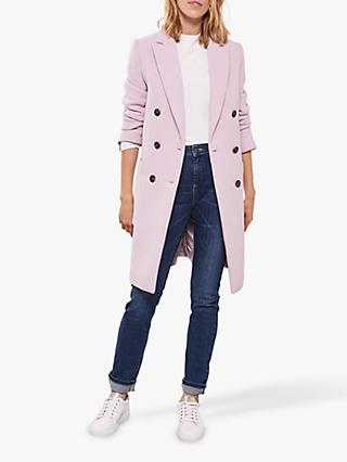 Mint Velvet Double Breasted Coat, Lilac