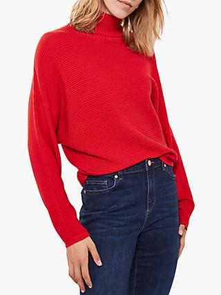 Mint Velvet  Chunky Roll Neck Knit, Red