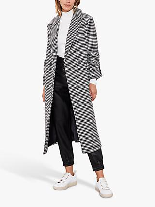 Mint Velvet Houndstooth Tailored Coat, Multi