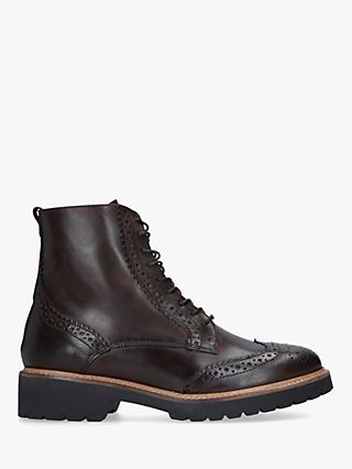 Carvela Snail Lace Up Leather Ankle Boots