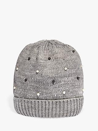 Phase Eight Joni Jewel Beanie, Grey