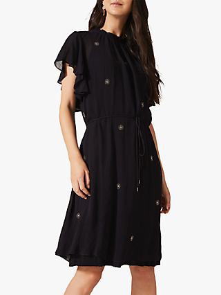 Phase Eight Marcie Embellished Dress, Navy