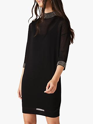Phase Eight Demi Diamante Collar Dress, Black