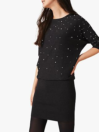 Phase Eight Becca Pearl Dress, Charcoal