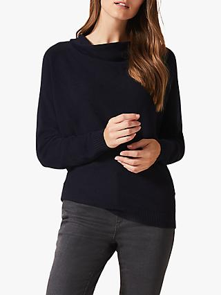 Phase Eight Cheri Cowl Neck Jumper, Navy