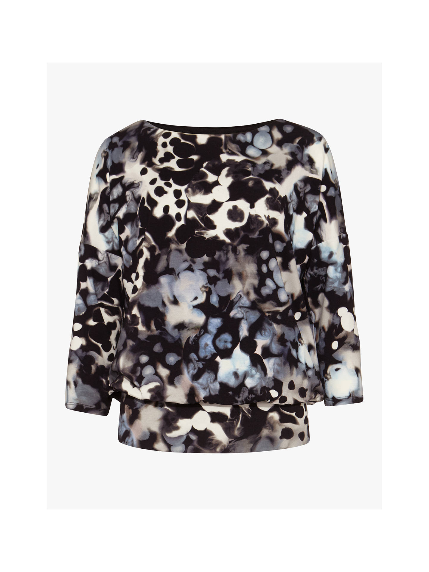 Buy Phase Eight Zina Smudge Print Jersey Top, Ink/Multi, 10 Online at johnlewis.com