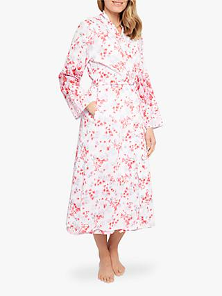 Nora Rose by Cyberjammies Portia Floral Print Dressing Gown, Pink/Multi