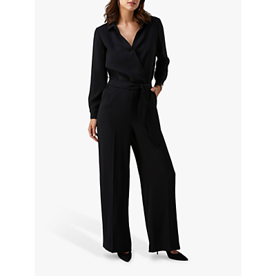 Pure Collection Belted Jumpsuit, Black