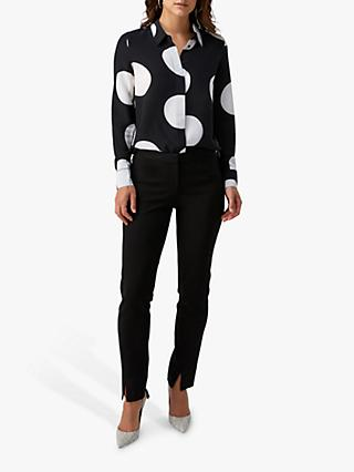 Pure Collection Relaxed Silk Blouse, Large Mono Spot