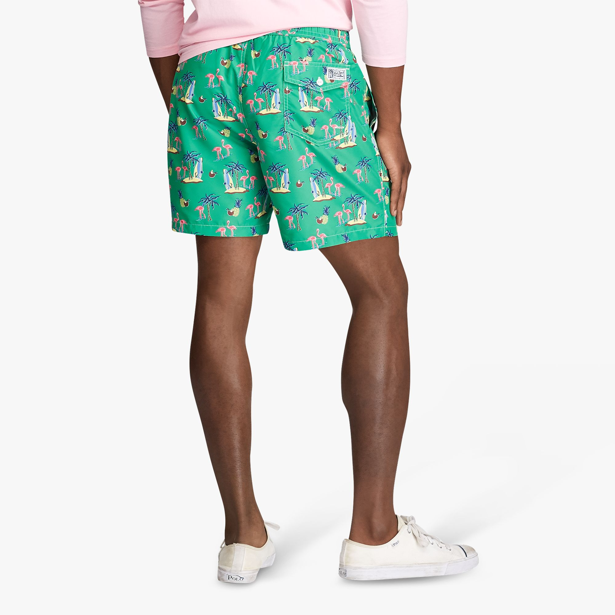 Ralph Lauren Polo Ralph Lauren Coconut Flamingos Swim Shorts, Coconut Flamingos