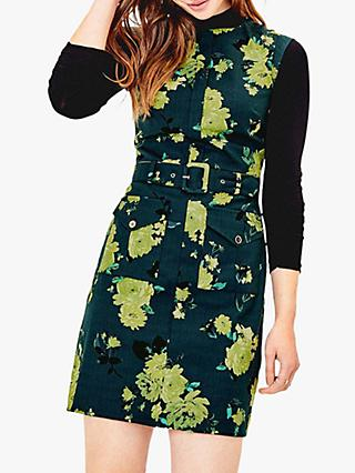 Oasis Rose Textured Dress, Green