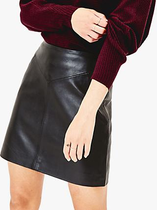 Oasis Leather Seam Detail Mini Skirt