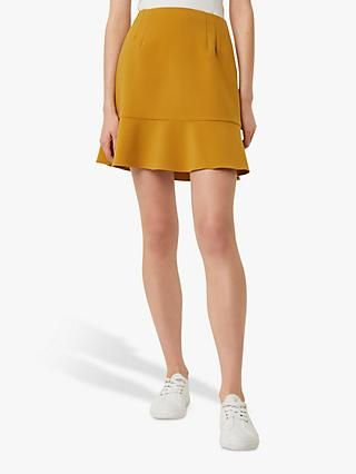 French Connection Dorotea Flared Mini Skirt, Citronelle