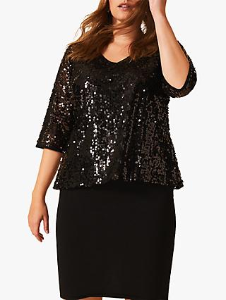 Studio 8 Lottie Sequin Dress, Black