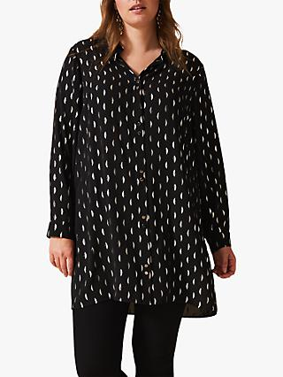 Studio 8 Ashley Half Moon Foil Shirt, Black/Silver