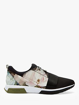 Ted Baker Cepap Satin Trainers, Black