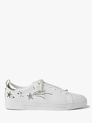 Ted Baker Sanaa Star Embellished Trainers, White