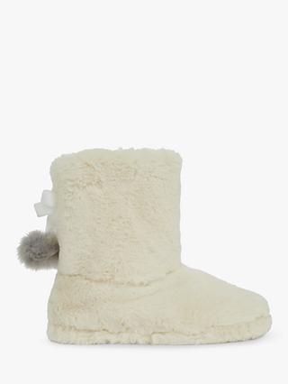 Ted Baker Hammond Faux Fur Slipper Boots, Natural Ivory