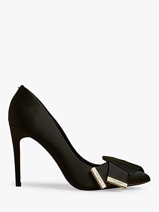 Ted Baker Inesi Satin Stiletto Heel Court Shoes, Black