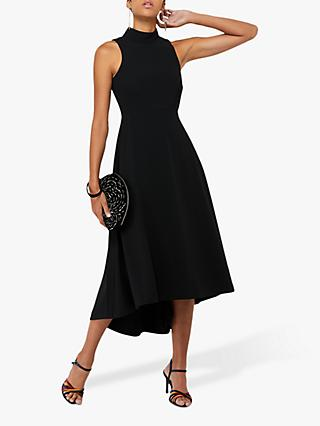 Monsoon Jade Plain High Neck High-Low Dress